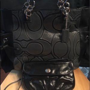 Coach Collette Signature Tote +wallet+ Insert SET